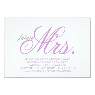 Bridal Shower Invitation | future Mrs.