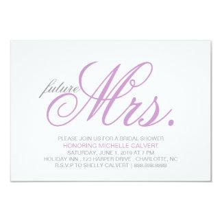 "Bridal Shower Invitation | future Mrs. 3.5"" X 5"" Invitation Card"