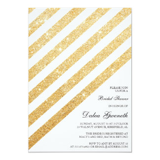 Bridal Shower Invitation - Glitter and Gold