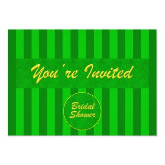 Bridal Shower Invitation in Green