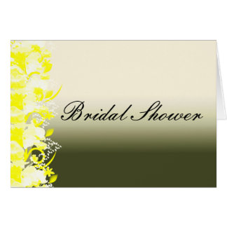 Bridal Shower Invitation Note Card
