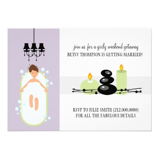 Bridal Shower Invitation or A Spa Weekend Getaway