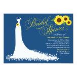 Bridal Shower Invitation | Sunflower Wedding Gown