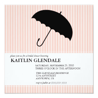 Bridal Shower Invitation with Umbrella