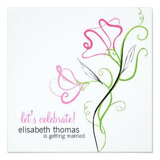 """Bridal Shower Invitations 5.25"""" Square Invitation Card"""