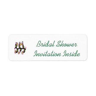 Bridal Shower Invite Envelope Label Return Address Label