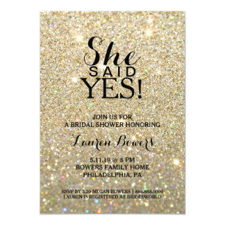 Bridal Shower Invite - She Said Yes