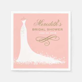 Bridal Shower Napkins | Elegant Wedding Gown Disposable Napkin