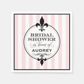 Bridal Shower Napkins   Fleur de Lis Design Disposable Serviette