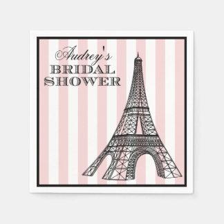 Bridal Shower Napkins   Paris France Theme Disposable Serviette