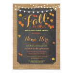Bridal Shower Party Fall in Love Autumn Invite
