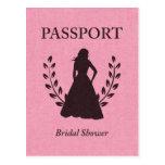 Bridal Shower Passport Post Cards