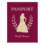 Bridal Shower Passport Postcard