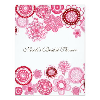 Bridal Shower  Pink Custom Invitation