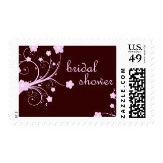 bridal shower : Pink Flowers : Stamps