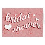 bridal shower : Pink Paisley : Card