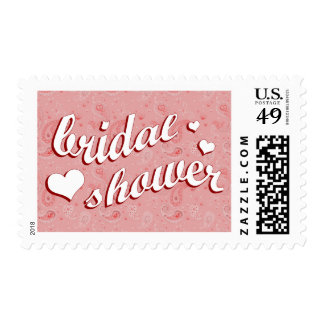 bridal shower : Pink Paisley : Stamps