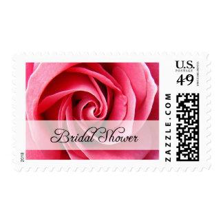 bridal shower : Pink Rose : Stamps