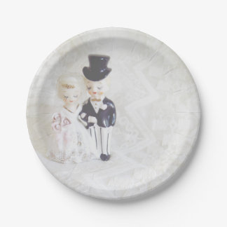 Bridal Shower Plates Cute Couple and Lace