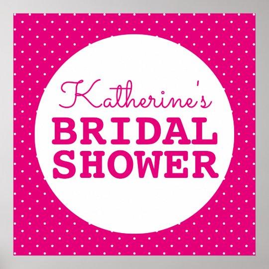 Bridal Shower Polka Dots Poster