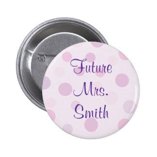 Bridal Shower Purple Polka Dot Theme Pins