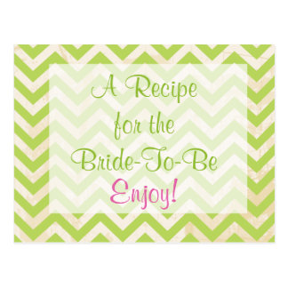Bridal Shower Recipe Card Postcards