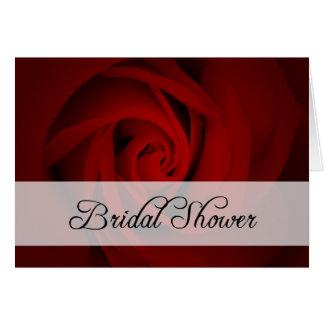 Bridal Shower : Red Rose : Greeting Card