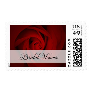 Bridal Shower : Red Rose : Stamps