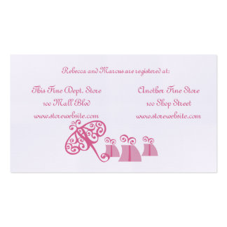 Bridal Shower Registry Card Business Card Templates