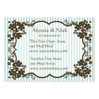 Bridal Shower Registry Card Pack Of Chubby Business Cards