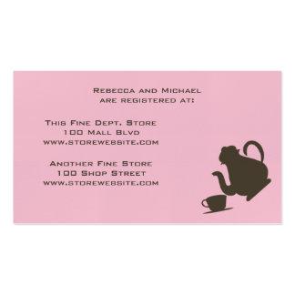 Bridal Shower Registry Card Pack Of Standard Business Cards