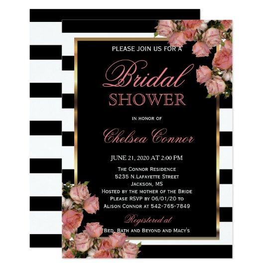 Bridal Shower - Rose Gold Wedding Black &