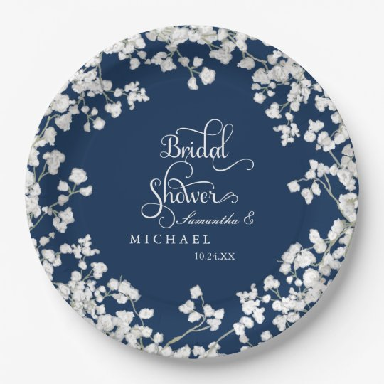 Bridal Shower Script Baby's Breath Rustic Country Paper