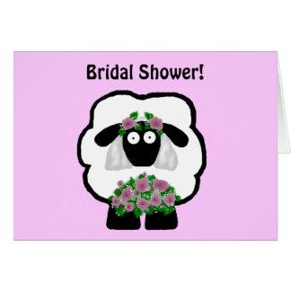 Bridal Shower Sheep Invitations Note Card