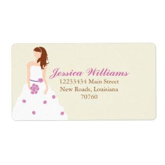 Bridal Shower Shipping Label