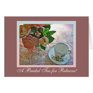 Bridal Shower Tea Greeting Card