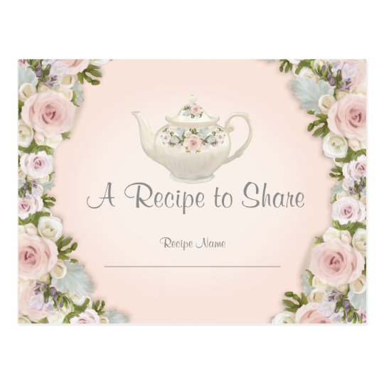 Bridal Shower Tea Party Recipe Rose Pretty Floral