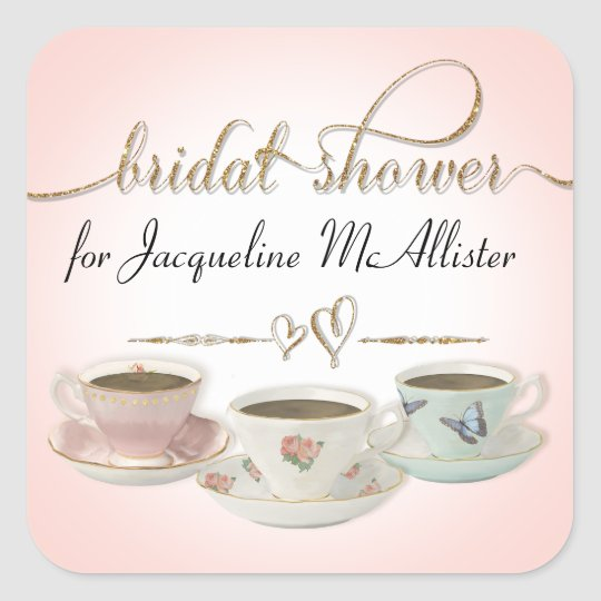 Bridal Shower Tea Party Teacups n Saucers Pink