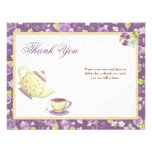 Bridal Shower Tea Party Thank You Card Invites