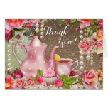Bridal Shower Tea Party Thank You Note Card