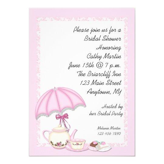 Bridal Shower Tea Pink Card