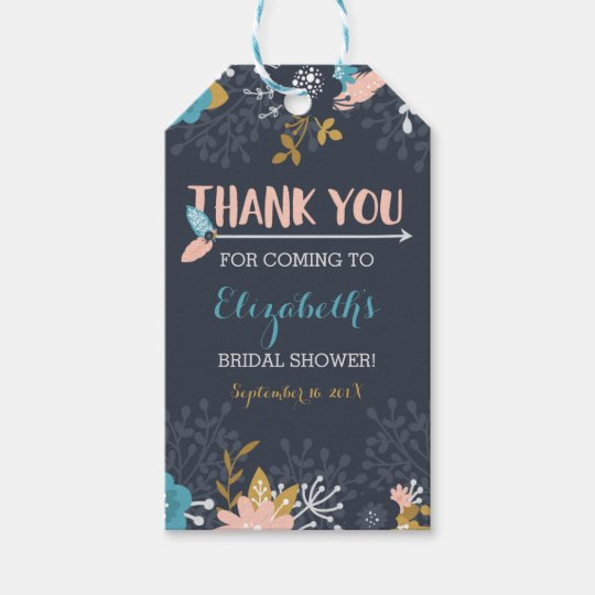 Bridal Shower Thank You Favour Tag, Boho Gift