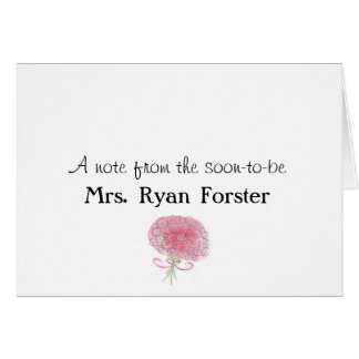 Bridal Shower thank you note Note Card