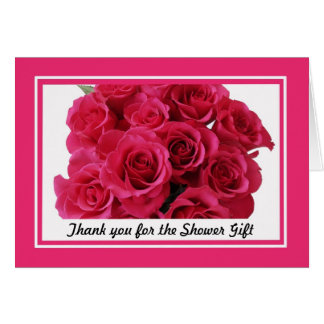 Bridal Shower Thank You Notes -- Rose bouquet Note Card