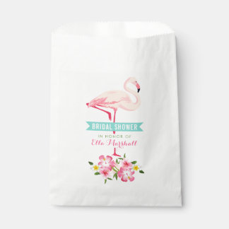 Bridal Shower | Tropical Flamingo Floral Favour Bags