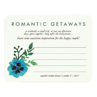 Bridal Shower Vacation Ideas Card | Blue Floral 11 Cm X 14 Cm Invitation Card