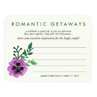 Bridal Shower Vacation Ideas Card | Purple Pansy 11 Cm X 14 Cm Invitation Card