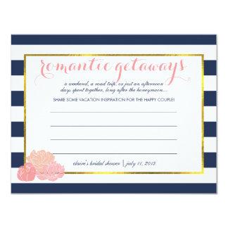 Bridal Shower Vacation Ideas Midnight Blush Peony 11 Cm X 14 Cm Invitation Card
