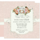 Bridal Shower Vintage Elegant Rose Floral Shaped Card