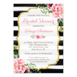 Bridal Shower Watercolor Floral Gold Glitter Decor 13 Cm X 18 Cm Invitation Card